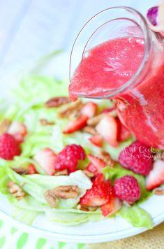 Raspberry Lime Vinaigrette | from willcookforsmiles.com #dressing #raspberry #Vinaigrette