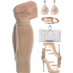 A fashion look from November 2016 featuring Giuseppe Zanotti sandals, Charlotte Olympia clutches and Latelita earrings. Browse and shop related looks. Sexy Dresses, Beautiful Dresses, Fashion Dresses, Dressy Outfits, Cute Outfits, Estilo Jenner, Style Personnel, Sport Outfit, Elegantes Outfit