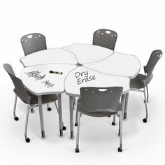 Dry Erase Collaborative Desks