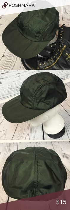 Vintage Army Green Structure Hat Retro Grunge Cap How SWEET is this vintage gem?!? Old school vinyl type hat from Structure. Army green. Stretches for easy wear. This is totally hip and perfect for guys or girls!!! I seriously LOVE this hat!!! Awesome condition from a smoke free home!! Vintage Accessories Hats