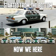 Dubai Police Evolution. Started from the bottom... now we here  #dubai #police #dxb #mydubai