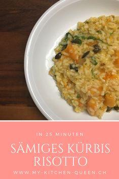 Lust auf ein leckeres Kürbis Risotto Rezept? Probiere es aus! Kitchen Queen, Ethnic Recipes, Food, Rice, Eten, Meals, Diet