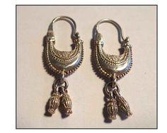 ANTIQUE EARRINGS BERBER /Boucles d'oreilles anciennes berbères en argent . de la boutique LaChinneuse sur Etsy