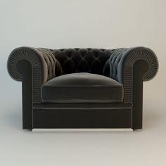 Albione One-seater Sofa by Fendi Casa