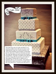 Thank you Amy and Peter for your wonderful review! It was a pleasure working with you on your absolutely beautiful #wedding cake.