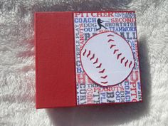 Baseball Scrapbook by SimplyMemories on Etsy. 6x6 inch chipboard scrapbook