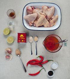 Křidýlka Piri Piri  - suroviny, Foto: BBQ kuchařka