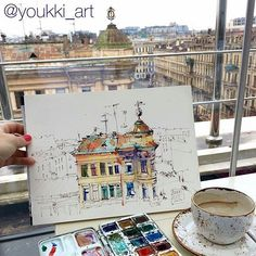 Painted buildings