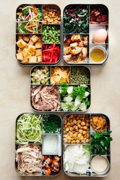 Sunday Night Salads: 5 Recipes to Make Ahead and Eat All Week — Meal Prep Magic Tricks (weekly meal prep healthy kitchens) Lunch Meal Prep, Healthy Meal Prep, Healthy Snacks, Healthy Eating, Diet Snacks, Healthy Kids, Meal Prep Salads, Healthy Packed Lunches, Clean Eating Salads