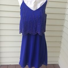 NEW WITH TAGS Cobalt Blue Dress  EXTRA PHOTOS Blue dress Xscape Dresses Mini