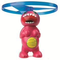 Launch and Catch 'Copters. Pull the rip cord for 50 feet of vertical take-off. Then prepare for touchdown as the hovering head prepares to land. Eight different styles and heads can mix and match to f