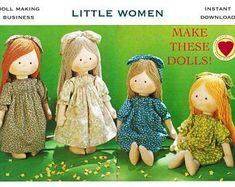 Waldorf Doll Step-by-Step Guide PDF Patterns Waldorfpuppe | Etsy Doll Sewing Patterns, Doll Clothes Patterns, Pdf Sewing Patterns, Fabric Patterns, Wooden Dolls, Waldorf Dolls, Sewing Basics, Fabric Dolls, Rag Dolls