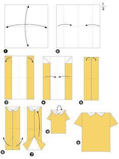 Diagramme d'origami de chemise