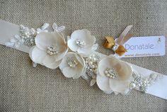 BABETTA Wedding Belt Bridal Belt by DonataleFlowers4You