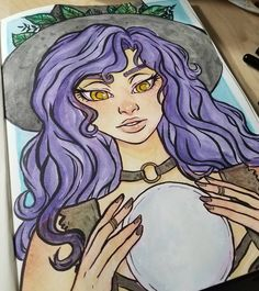 """Divination  Blondee Gmz (@showyourmask) on Instagram: """"I had time to sit down and do an illustration today! It was super relaxing. #watercolor…"""""""