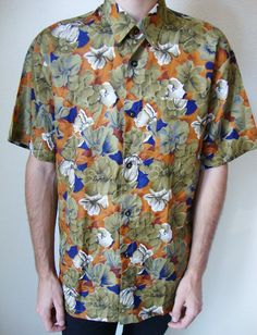 #adultworldshop #floral #shirt #thai #silk #flowers #indie #hipster #shiny #90s #80s #elegant #classic #casual #dressup #nature #brush #print #summer #beach #tropical