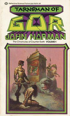 Publication: Tarnsman of Gor  Authors: John Norman Year: 1976-06-00 ISBN: 0-345-25179-2 [978-0-345-25179-4] Publisher: Ballantine Books  Cover: Boris Vallejo