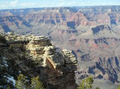 ledge in the foreground & canyon in the back, Grand Canyon, Az