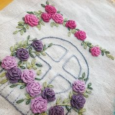 Embroidered Roses, Arts And Crafts, Mini, Hand Embroidery, Art And Craft, Art Crafts, Crafting