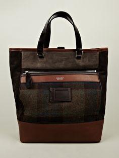 DSquared2 Dean Tweed Shopper Bag in green at oki-ni