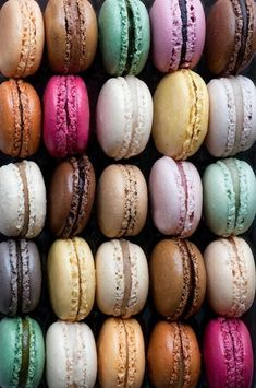 Paris Macarons Photography - French Patisserie, Colorful Food Photography, Large…
