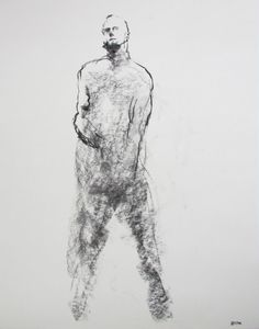 "Gesture Figure Drawing  - 11 x 14"",  fine art - Drawing 83 - charcoal on paper - original drawing on Etsy, $50.00"
