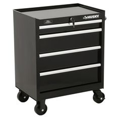 New Husky 27 in. W Tool Cabinet Black Storage Tool Box Organizer Chest