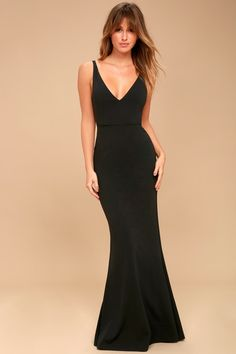 Enchantress will be your middle name when you step out in the Melora Black Sleeveless Maxi Dress! Sleeveless maxi dress with mermaid hem. Affordable Bridesmaid Dresses, Bridesmaid Dresses Online, Black Bridesmaid Dresses, Black Maxi Dresses, Fitted Black Dress, Black Jumpsuit, Maxi Wrap Dress, Dress Up, Bustier Dress