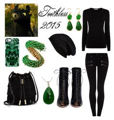 """""""Toothless"""" by thenightfurygirl ❤ liked on Polyvore featuring David Webb, Argento Vivo, NOVICA, Uncommon, Halogen, Vince Camuto, Gianvito Rossi, Paige Denim, Oasis and Toothless"""