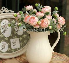 Wholesale Rosette Fabric - Buy Fake Arrangment Silk Victoria Rose Flower Decoration Artificial Flowers Bouquets 20pcs/lot, $2.72 | DHgate