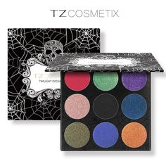 TZ Marca 9 Colores Paleta de Sombra de ojos Mate Frustrado de Sombra de Ojos Del Brillo Del Diamante en Una Paleta Rubor Set de Maquillaje de Belleza