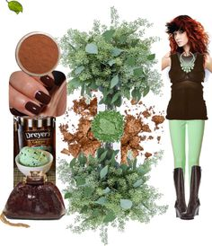Chocolate Mint Style, created by shaley1 on Polyvore