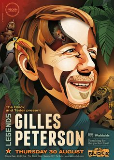 Gilles Peterson at The Block by on DeviantArt House Music Artists, Club, Design Model, Deviantart, Graphic Design, Writing, Illustration, Event Posters, Art Posters