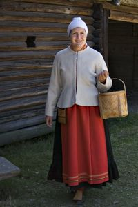 dress from Mora, Dalarna, Sweden Folk Costume, Costumes, Swedish Decor, Swedish Fashion, Traditional Dresses, Poland, Sweden, Roots, Deep