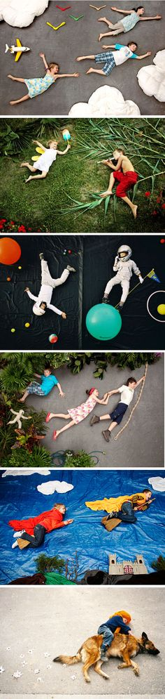 Dreams of flying - a series by Jan Von Holleben- what great ideas to do with your kids!!!