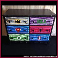 Dollar Store Crafter: Super Hero Dresser
