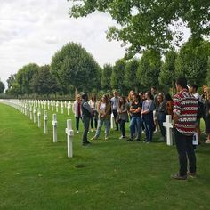Our @bayloruniversity students have visited the American cemetery in Margraten today as part of their Maastricht Day. Tomorrow they will leave for a 3-day trip through the Netherlands. Follow us for daily updates on the trip!