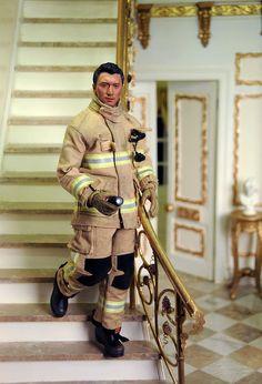 Firefighter Action Figure - Nice realistic looking uniform.
