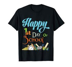 1st Day Of School, Back To School, School Shirts, Branded T Shirts, Fashion Brands, Amazon, Happy, Mens Tops, Stuff To Buy