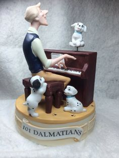 "Mint Condition, The Disney Collection, Musical Memories ""101 Dalmations"" Musical Figurine Music Box Designed By The Walt Disney Artists"
