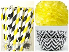 Party Package Queen Bee Party theme Paper Straws by ThePaperDivaa, $18.50