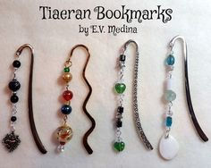 https://flic.kr/s/aHsksteD7A | Tiaeran Bookmarkers | Hand-made beaded bookmarkers I enjoy creating, based on my fantasy world of Tiaera.  All are for sale. Contact me if you want to make a purchase.