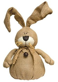 Burlap Bunny with Bell - Primitive Country Spring Easter Rabbit Doll by CWI --  http://www.amazon.com/gp/product/B00TKVG5HM/ref=as_li_qf_sp_asin_il_tl?ie=UTF8&camp=1789&creative=9325&creativeASIN=B00TKVG5HM&linkCode=as2&tag=lunabellaswor-20&linkId=367V5OJKULTQYTYW