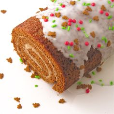 A moist gingerbread cake rolled around sweet maple cream filling-- a perfect Christmas treat! Over a year ago I made gingerbread cookies with a maple cream filling for Halloween. I've had so many ...