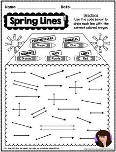 Geometry POSTERS Point Lines Ray Angles Kid Friendly CUTE