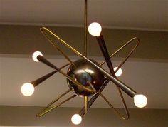 1950s light fixture. Mid Century Lamp