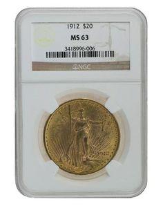 1912 NGC MS63 Saint Gaudens $2320.00