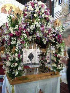 Αγιος Νικολαος Γλυφαδα 2015 Altar, Holi, Greece, Floral Wreath, Friday, Wreaths, Quotes, Flowers, Decor