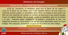 """MISIONEROS DE LA PALABRA DIVINA: MEDITACIÓN DEL EVANGELIO - """" El Reino de Dios... e..."""