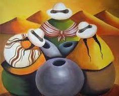 Resultado de imagen de pinturas de cholitas peruanas